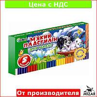 """Пластилин для лепки """"Кроха"""" с воском 5 цветов для детей (детский) Ц396015У"""