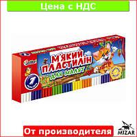 """Пластилин для лепки """"Кроха"""" с воском 7 цветов для детей (детский) Ц396014У"""