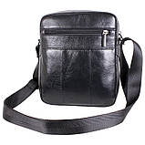Мужская кожаная сумка Dovhani BL30115-2258 Черная, фото 5
