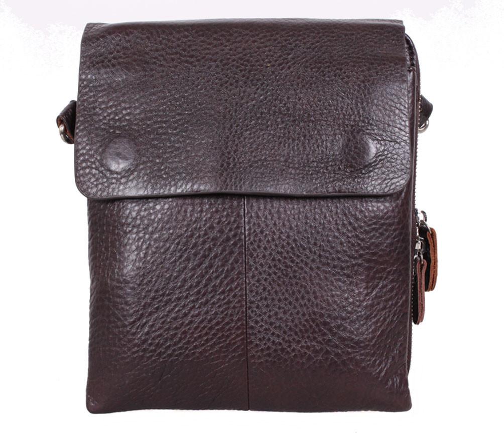 Мужская кожаная сумка Dovhani MESS8135-2CF68 Коричневая