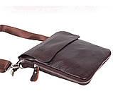 Мужская кожаная сумка Dovhani MESS81388-2CF72 Коричневая, фото 3