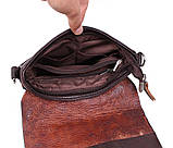 Мужская кожаная сумка Dovhani MESS81388-2CF72 Коричневая, фото 9