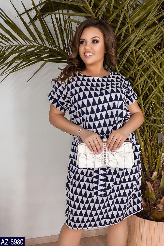 Стильное платье    (размеры 50-60)  0181-45