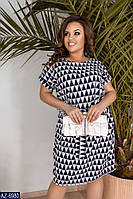 Стильное платье    (размеры 50-60)  0181-45, фото 1