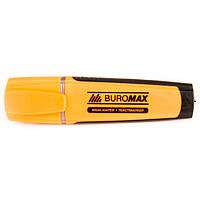 Текстовыделитель  маркер флуоресцентный Вuromax оранжевый