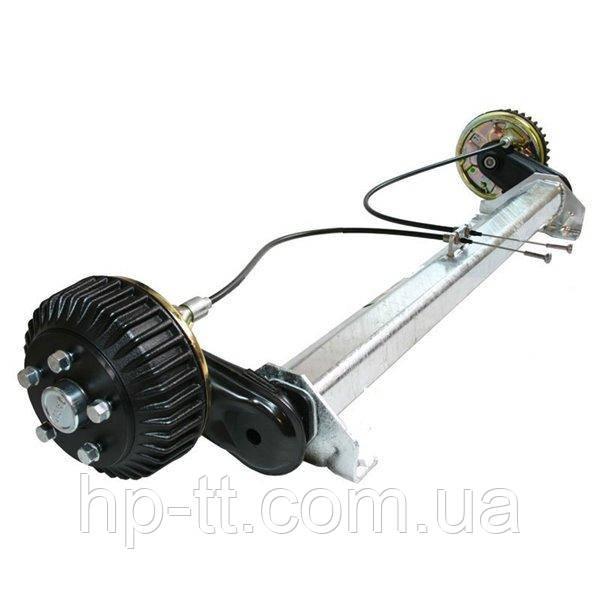 Тормозная ось с автоматической регулировкой тормозных колодок 1350 кг. A=1300 112*5