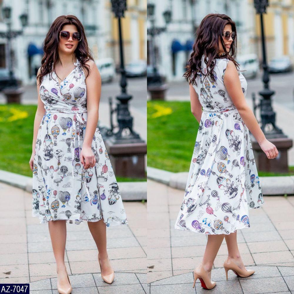 Стильное платье    (размеры 48-56)  0181-46