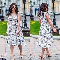 Стильное платье    (размеры 48-56)  0181-46, фото 1
