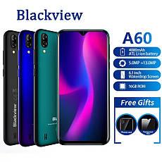 Blackview A60 Blue, MT6580A, 1GB/16GB + силіконовий чохол + захисне скло, фото 2
