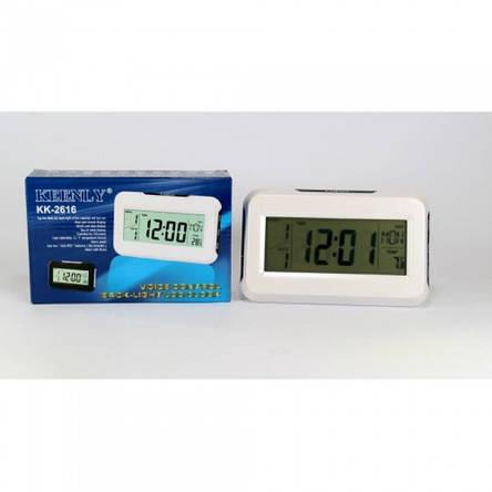 Настольные часы с термометром, подсветкой Keenly kk-2616, фото 2