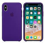 Силиконовый чехол для iPhone X/XS, цвет «пурпурный», фото 2