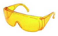Очки желтые защитные противоосколочные MasterTool 82-0050