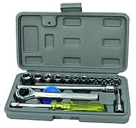Набор ключей и насадок торцевых 16 шт в кейсе MasterTool 78-0255