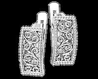 Серьги серебряные Вензеля 41295
