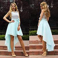 Женское асимметричное платье с поясом