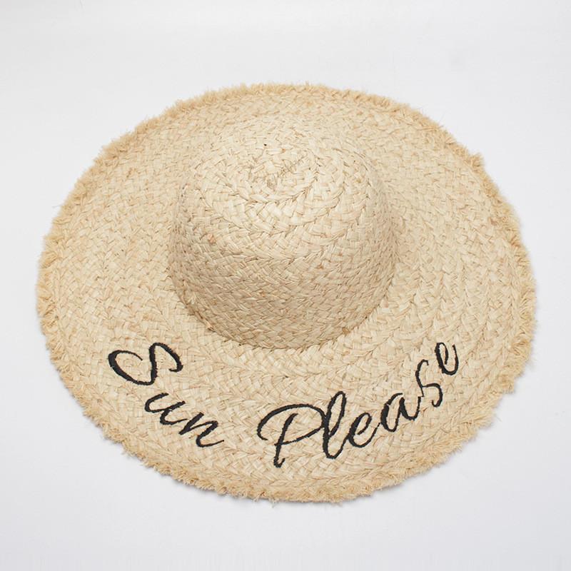 Пляжная широкополоя соломенная женская шляпа, фото 1