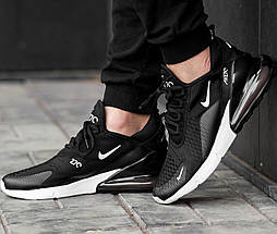 Женские и мужские кроссовки Nike Air Max 270 Black/White, фото 3