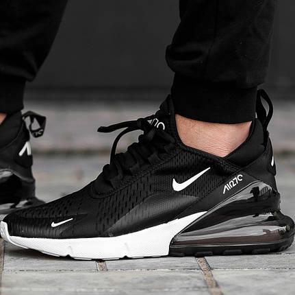 Женские и мужские кроссовки Nike Air Max 270 Black/White, фото 2
