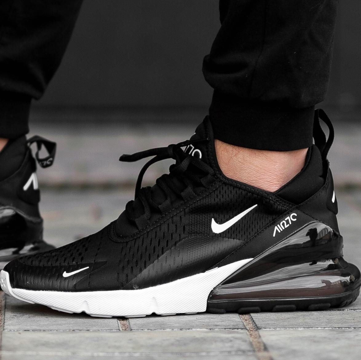 Женские и мужские кроссовки Nike Air Max 270 Black/White