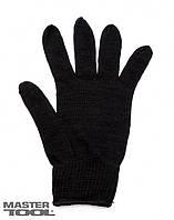 Перчатки х/б зимние (черные),107 MasterTool 83-0303