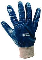 """Перчатки масло-бензостойкие утепленные, нитриловое покрытие, вязаный манжет (синие),10,5"""",10 MasterTool 83-0406"""