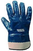 """Перчатки масло-бензостойкие утепленные, нитриловое покрытие, манжет крага (синие), 10,5"""", 11 MasterTool 83-040"""