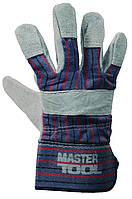 """Перчатки комбинированные из замши и ткани, цельная ладонь, 10,5"""", 190-200 г MasterTool 83-0702"""