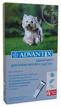 Адвантикс д/соб 4-10кг (4пип. в уп. -цена за пипетку) Байер. Германия.