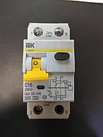 Автоматический выключатель дифференциального тока IEK C16A/30ma