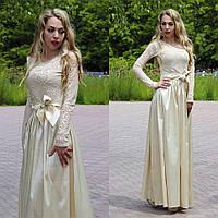 Женское платье в пол гипюровое, фото 1