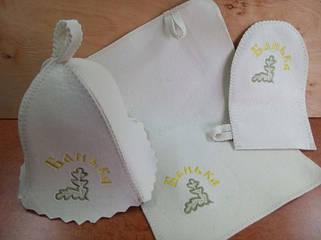 Набор с вышывкой (шапка 3мм, коврик, рукавица 2мм)