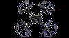 Квадрокоптер D11 c WiFi камерой. Беспилотник Original size quadrocopter. Складной квадрокоптер, фото 6