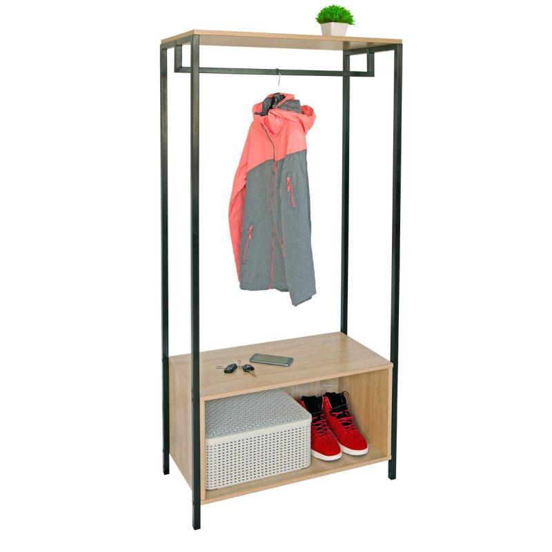 Стойка для одежды Квадро 10 (металл/дерево)