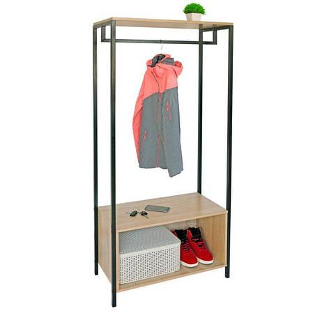 Стойка для одежды Квадро 10 (металл/дерево), фото 2
