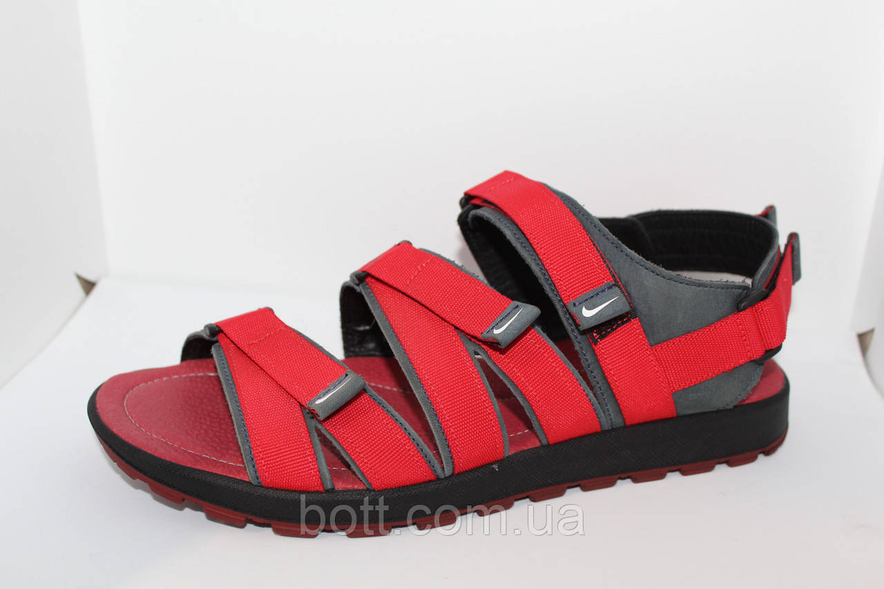 Красные босоножки кожаные