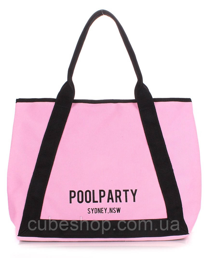 Котоновая сумка Poolparty Laguna (розовая)