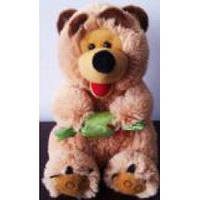 Мягкая игрушка Медведь с конфетой (озвученная)