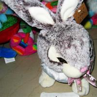 Мягкая игрушка Кролик сизый озвученая