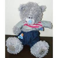 Мягкая игрушка Медведь кучерявый (серый озвученная)