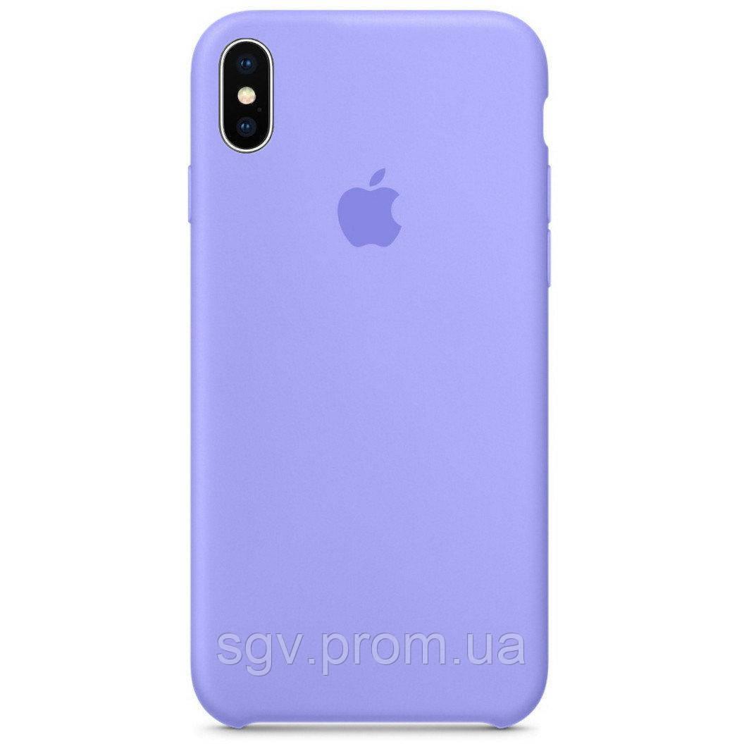 Силиконовый чехол для iPhone X/XS, цвет «светло фиалковый»