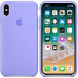 Силиконовый чехол для iPhone X/XS, цвет «светло фиалковый», фото 2