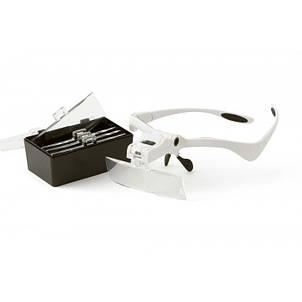 Бинокуляр очки бинокулярные со светодиодной подсветкой 9892BP, фото 2