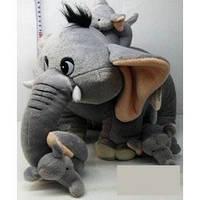 Мягкая игрушка Слон со слоненком