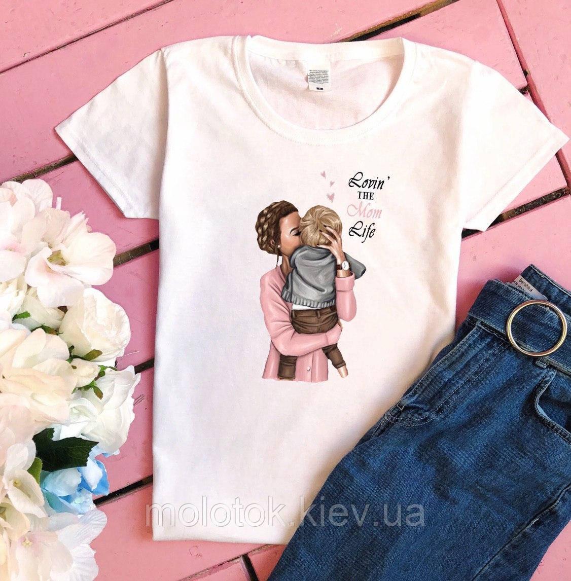 Женская футболка Я люблю Маму летняя белая