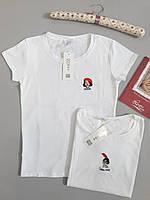 Женская футболка белая Хлопок модная