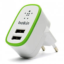 Сетевое зарядное устройство Belkin (2USB 2.1A) Белый