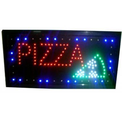"""Рекламная светодиодная LED вывеска """"Пицца"""" 48 Х 25 см для использования внутри помещения и на улице , фото 2"""