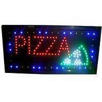 """Рекламная светодиодная LED вывеска """"Пицца"""" 48 Х 25 см для использования внутри помещения и на улице"""