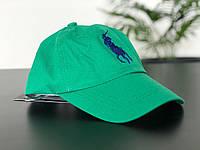 Зеленая кепка polo ralph lauren (поло)