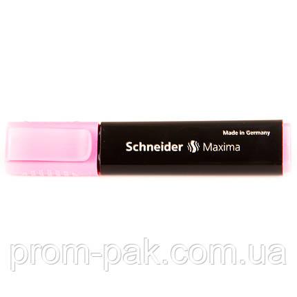 Текстовыделитель маркер  Schneider Maxima розовый, фото 2